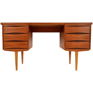 Mid-Century Danish Pedestal Desk