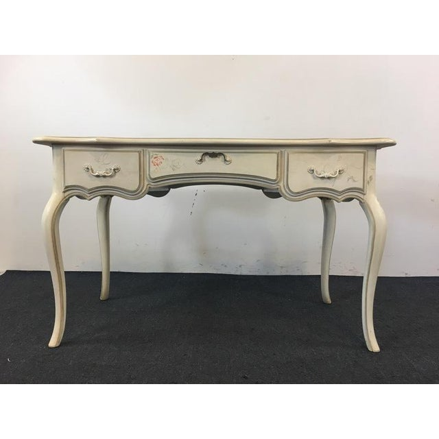Ethan Allen Henry Coffee Table With Drawers: Ethan Allen French Provincial Painted Wood Desk