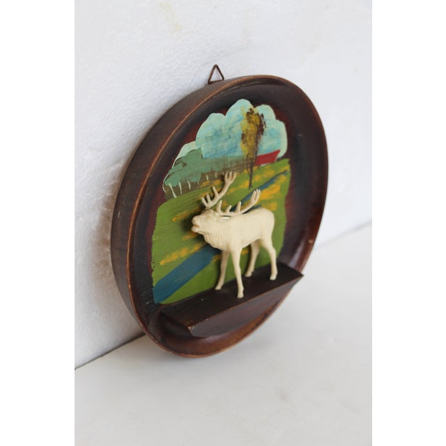 Kitschy Wood Stag Cameo Wall Art - Image 3 of 6