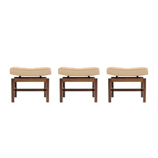 Set of Jens Risom Curved Top Stools