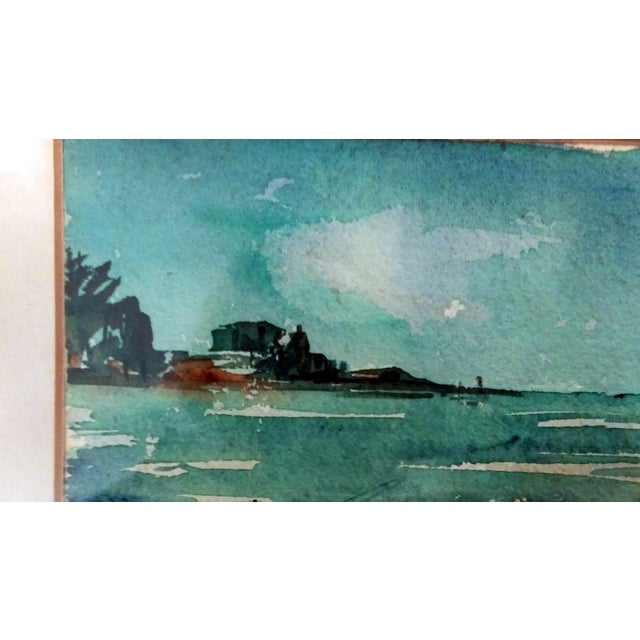 Harriet Ermentrout Seascape Watercolor Painting - Image 7 of 9