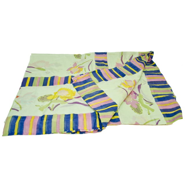 Lisa Corti Green Tablecloth Organdy in Bag - Image 1 of 2