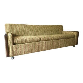 Kroehler Mid-Century Low Profile Tweed Sofa