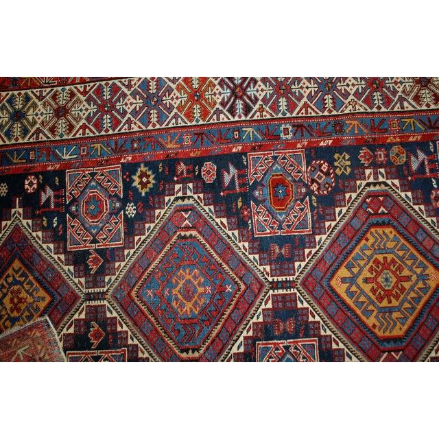Antique Caucasian Shirvan Rug- 4′9″ × 7′10″ - Image 7 of 10