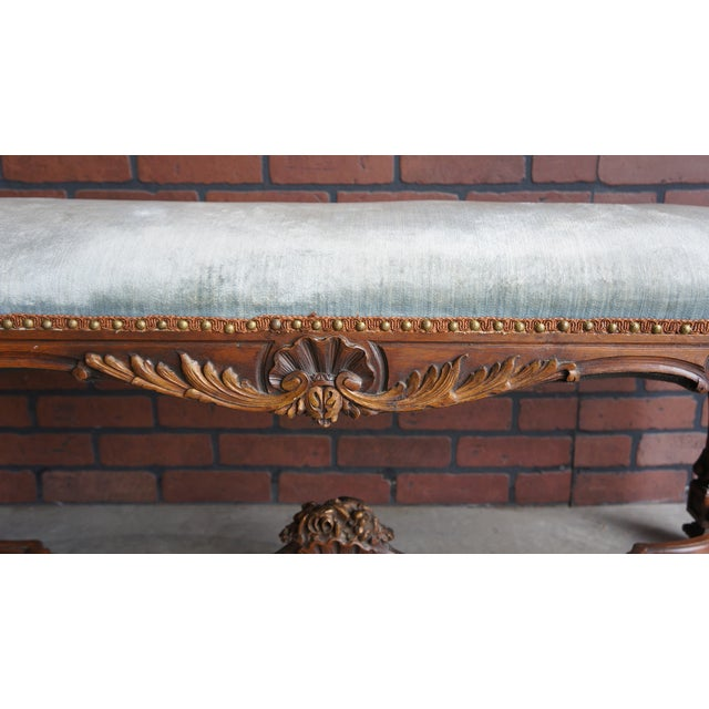 Antique French Provincial Bench - Image 2 of 9