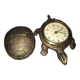 Florn West Germany Brass Turtle Clock
