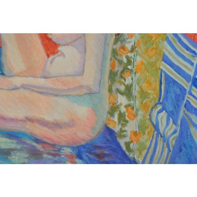 """Esther Akrish """"Pensive"""" Original Watercolor - Image 3 of 4"""