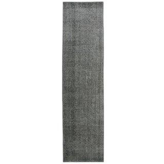 Cement Grey Overdyed Carpet | 2'6 x 9'9 Runner