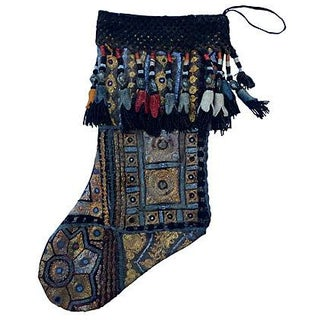 Metallic Tribal Gypsy Christmas Stocking