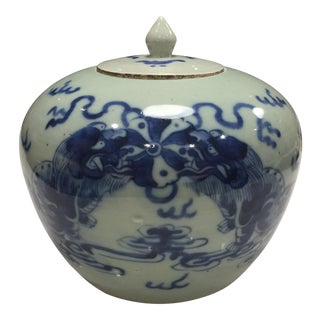 Blue Chinese Cache-Pot