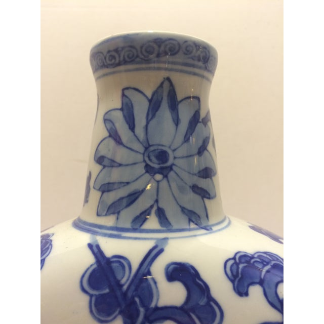 Chinosorie Vase in Blue with Floral Details - Image 5 of 6
