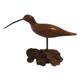 Mid-Century Carved Kiwi Bird