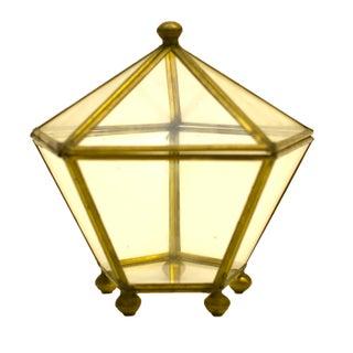Brass & Glass Hexagonal Display Box