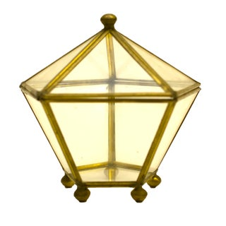 Brass & Glass Hexagonal Display Box