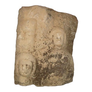 Old Italian Sculpted Fragment of Frieze Stones