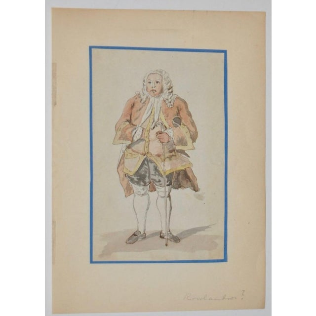 Image of 19th Century Pen, Ink & Watercolor Illustration in the School of Rowlandson