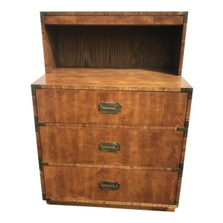 Lane Mid-Century Modern Campaign Chest With Lighted Hutch