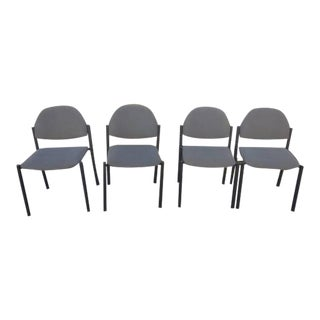 Comet Armless Stacking Chairs - Set of 4