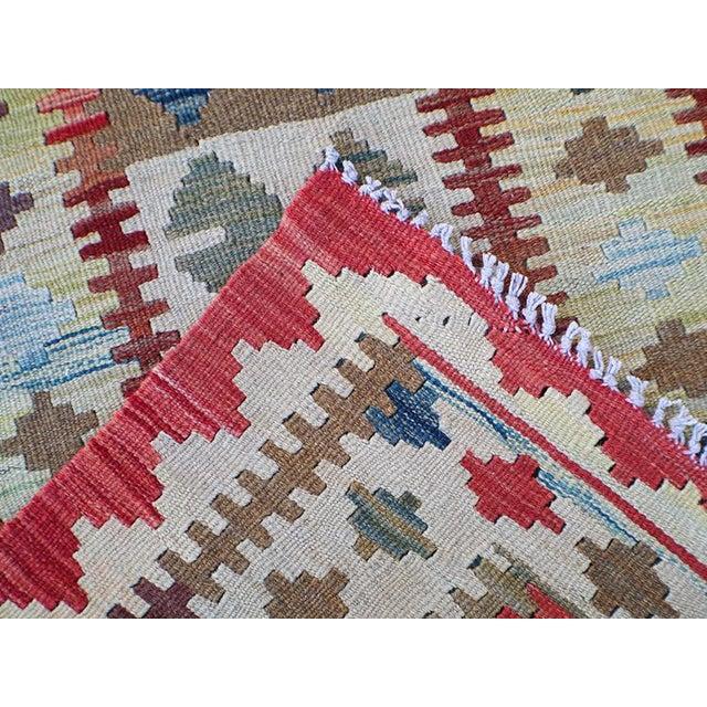 Afghani Kilim Wool Runner Handmade Tribal Rug