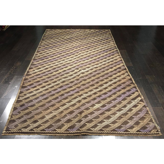 "Image of Bellwether Rugs Vintage Turkish Kilim Rug - 5'5"" x 10'5"""