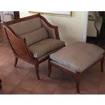 Image of Brown Chair & Ottoman Set