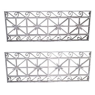 Wrought Iron Regency Style Wall Grates - Pair