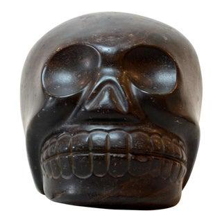 Aztec Black Stone Skull