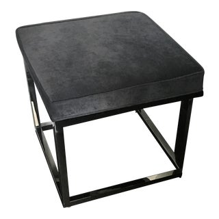 Mitchel Gold + Bob Williams Velour Low Stool