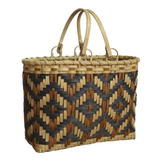 Cherokee White Oak Purse Basket by Carol Welch