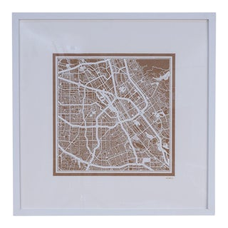 Sarreid Ltd. San Jose Framed Map