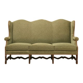 Vintage French Os De Mouton Style Small Sofa or Settee