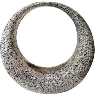 Modern Black & Grey Speckled Circular Planter Vase