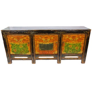 Vintage used orange credenzas and sideboards for Sideboard orange
