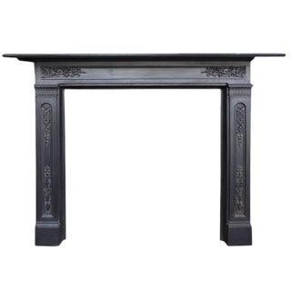 English Cast Iron Fireplace Mantel