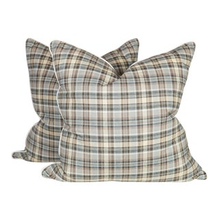 Custom Plaid Chatham Pillows - A Pair