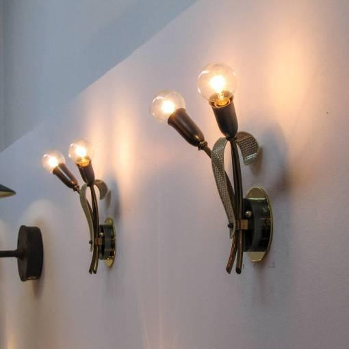 1950s French Double Sconces - A Pair - Image 10 of 10