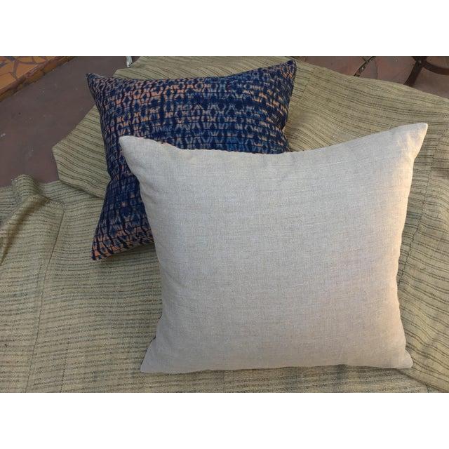 Vintage African Indigo Textile Pillows, S/2 - Image 6 of 6