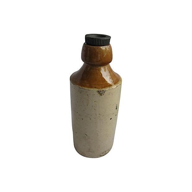 Image of Antique English Ironstone Ginger Beer Bottle