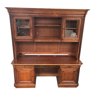 Executive 2 Piece Credenza Desk & Hutch