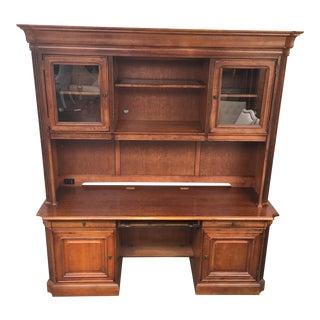 Executive 2 Piece Credenza Desk & Hutch