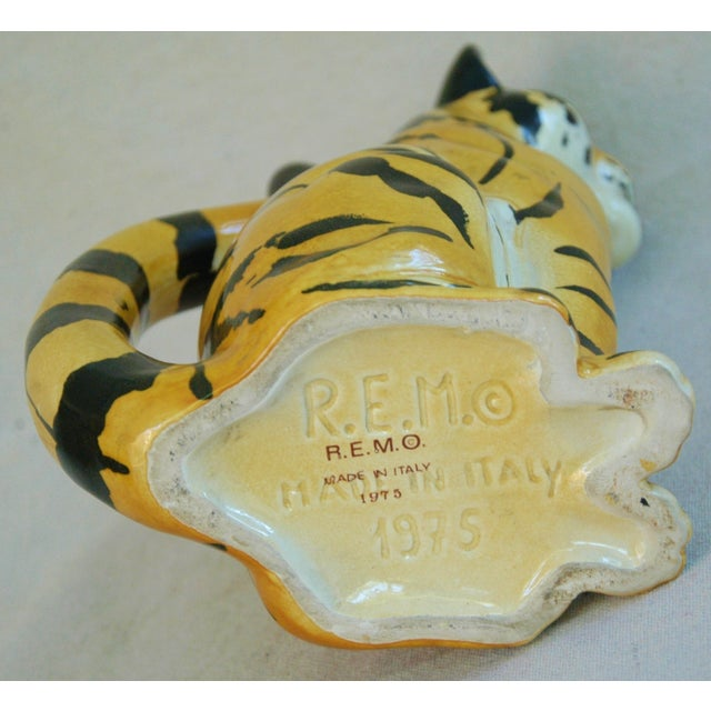 Italian Hollywood Regency Tiger Pitcher - Image 8 of 8