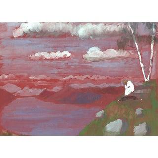 1970s Vintage Original Impressionist Painting