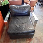 Image of Ralph Lauren Black Saddle Leather Chair