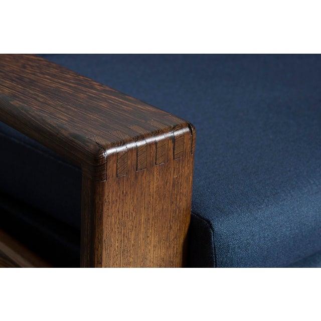 Wenge 70's Mod Love Seat - Image 7 of 8