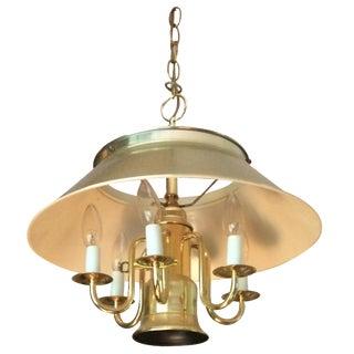 Mid-Century Brass Lantern Chandelier