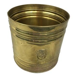 English Brass Planter