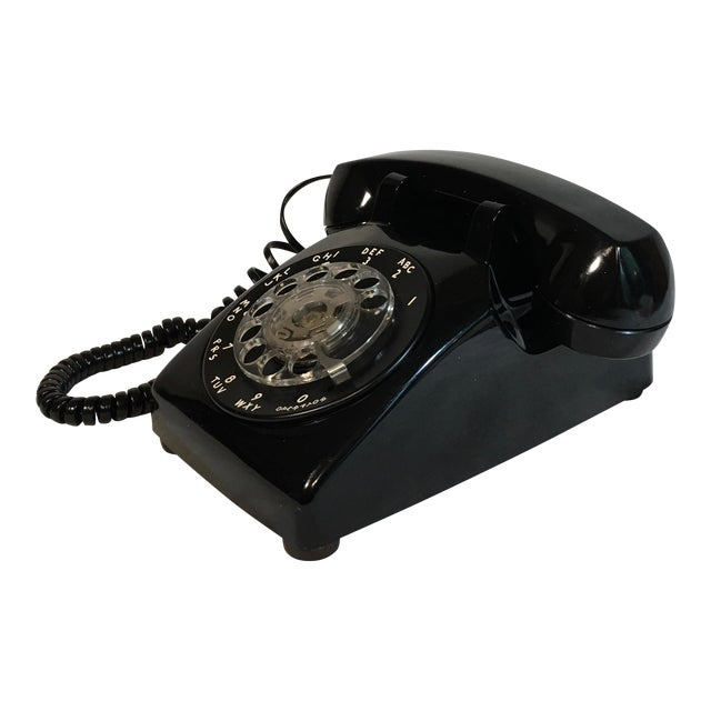 Vintage Black Rotary Telephone - Image 1 of 8