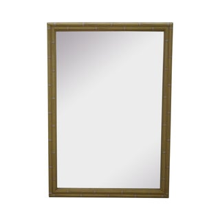 Hollywood Regency Faux Bamboo Painted Frame Mirror