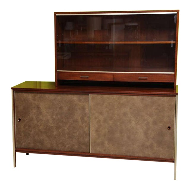 Image of Paul McCobb Calvin Walnut Buffet with Top Cabinet