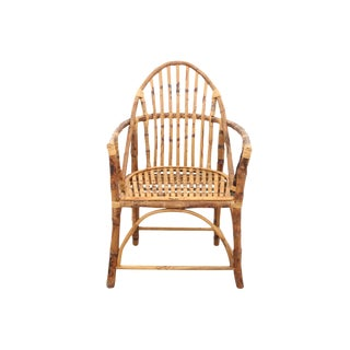 Windsor Style Bamboo Side Chair